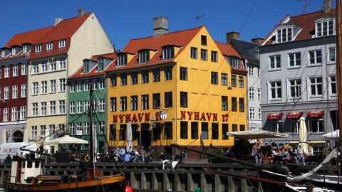 Pleasure in Copenhagen Stock Video Footage