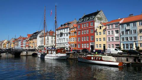 Sightseeing in Copenhagen Stock Video Footage