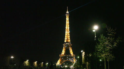 Eiffel Tower blinking Stock Video Footage