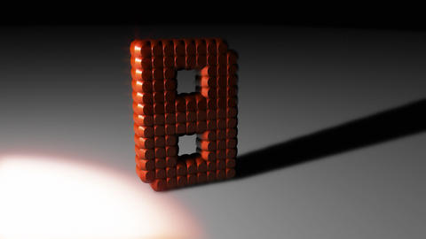 3D Leds countdown 01 Stock Video Footage