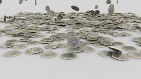 euro coins rain 03 Animation