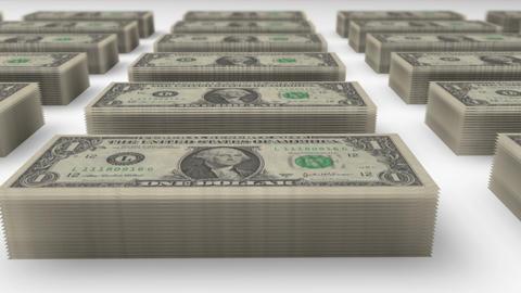 Dollar bills piles 01 Stock Video Footage