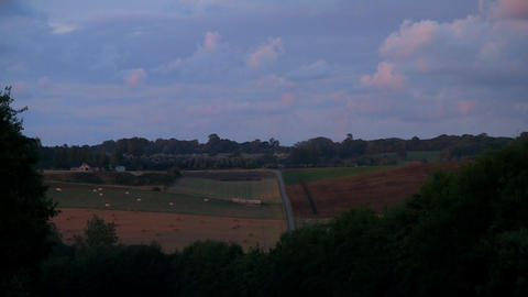 countryside sunset timelapse 01 Stock Video Footage