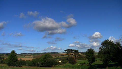 countryside cloudscape timelapse 01 Stock Video Footage