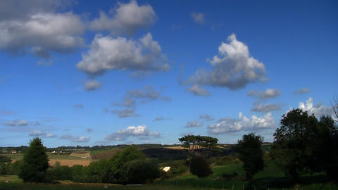 countryside cloudscape 03 Stock Video Footage