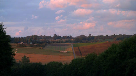 countryside cloudscape 01 Stock Video Footage