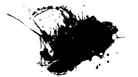 Ink splashes 01 Stock Video Footage
