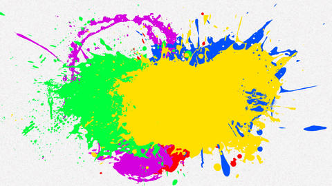 multi paint splash with alpha Stock Video Footage