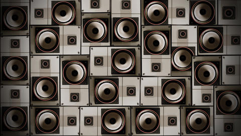 Speaker Wall 01 Stock Video Footage