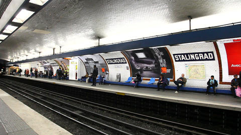 French Metro Stock Video Footage