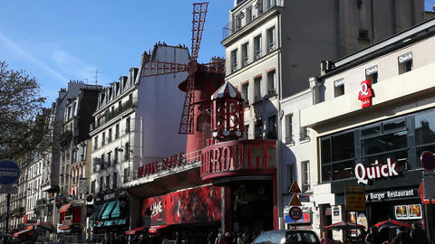 Entertainment in Montmartre Stock Video Footage