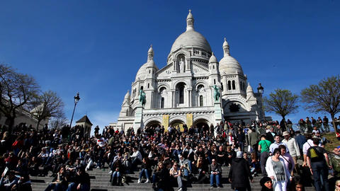 Sacre Coeur Stock Video Footage