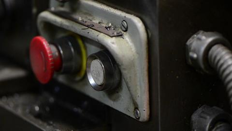 Machine button Stock Video Footage
