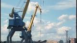 Port Crane Timelapse 2 stock footage