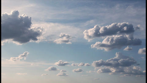 Shining clouds time lapse Stock Video Footage