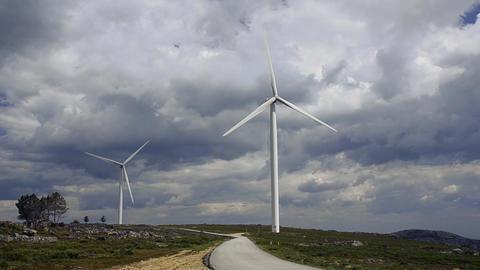 Wind turbine farm Footage