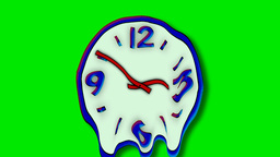 MELTING WALL CLOCK Stock Video Footage