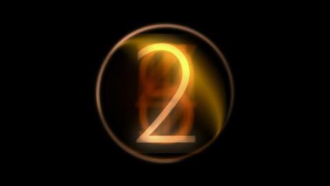 countdown golden... Stock Video Footage