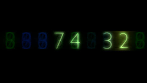 Random number change Stock Video Footage