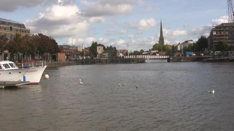 Bristol yacht harbor Stock Video Footage