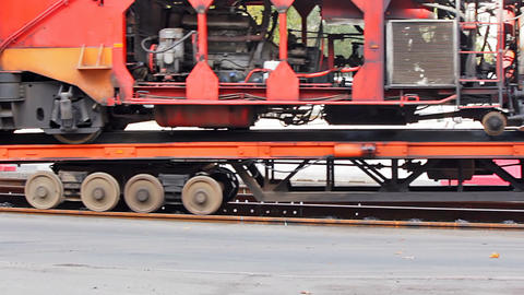 Transporting the ballast tamper Stock Video Footage