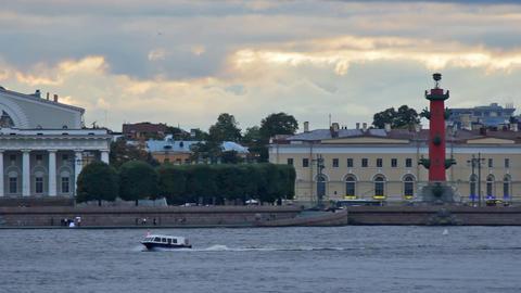 Embankment Vasilyevsky Island Stock Video Footage