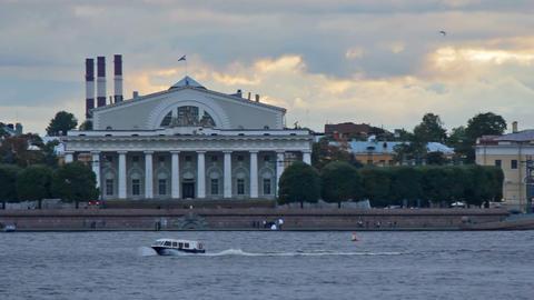 Embankment Vasilyevsky Island Footage