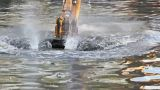 Bucket dredging machines Footage