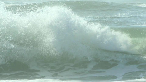 Waves crash on shore Stock Video Footage