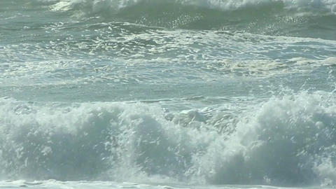 Waves crash on shore Footage