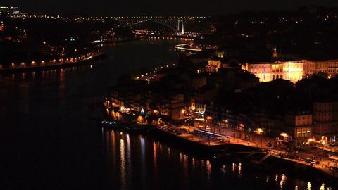 Arrábida bridge at night Stock Video Footage