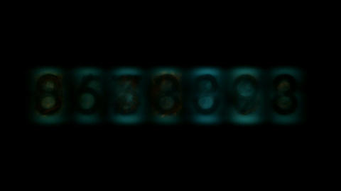 number digital background Stock Video Footage