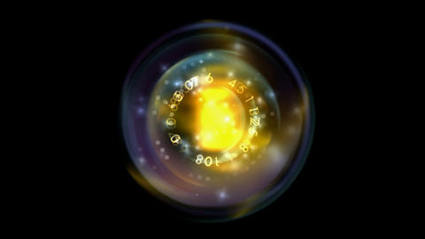 Rotating light ball and figure Stock Video Footage