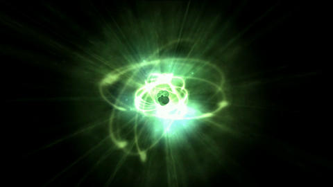 interesting dynamic nebula and green laser in 3D... Stock Video Footage