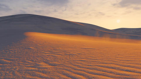 Sunset In A Sandy Desert. Time Lapse stock footage