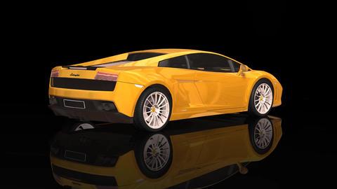Luxury Sport Car Lamborghini Yellow Color Moving Rotation Footage
