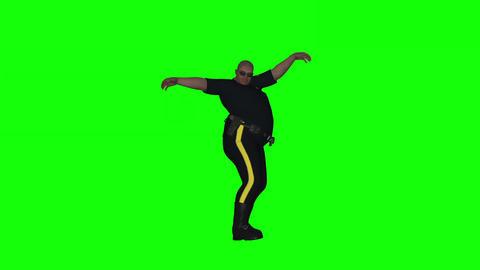 Fat Dancing Cop 2 stock footage