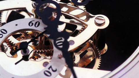 old fashioned vintage clock macro Footage