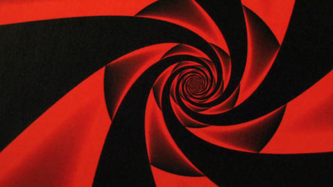 Valentines Day Red Rose Design Swirl Animation Background stock footage