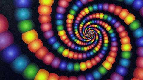 Candyland Rainbow Color Vortex Animation Background stock footage
