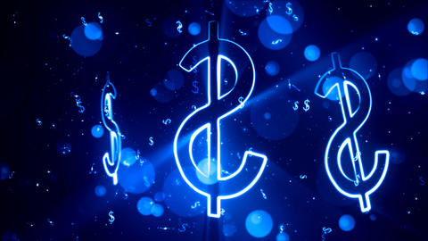 Bright Dollars 2– Loopable Background Animation