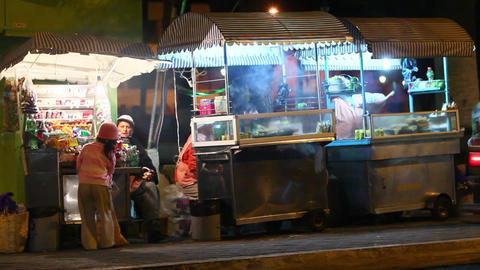 Fast Food Sellers Footage