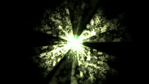Rotation ray and flower... Stock Video Footage