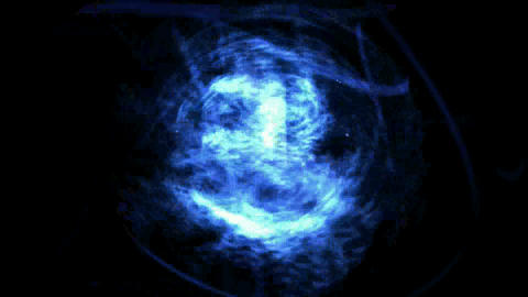 Space cluster,rotation blue light,journey through... Stock Video Footage