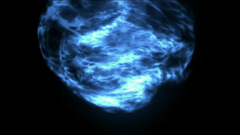 The blue energy light,rotating magnetic... Stock Video Footage