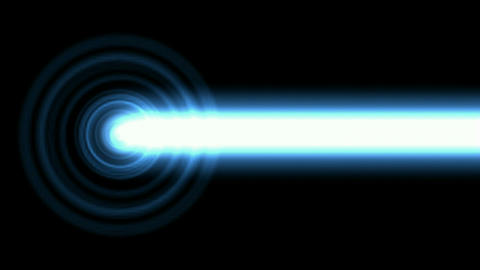 Flashing blue circle pulse and white... Stock Video Footage