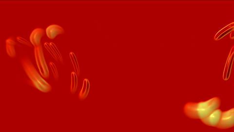 swirl cyclones,rotation golden metal ring,circle laser pusle Stock Video Footage