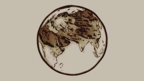 Indian Ink Earth Loop Stock Video Footage
