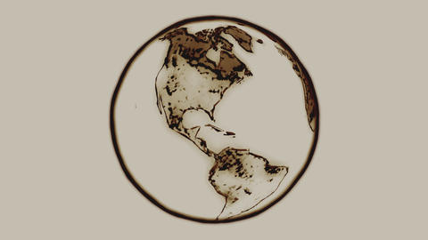 Indian Ink Earth Loop Animation