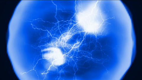 flare lightning in balls enchantment,nuclear fission,power energy field Animation